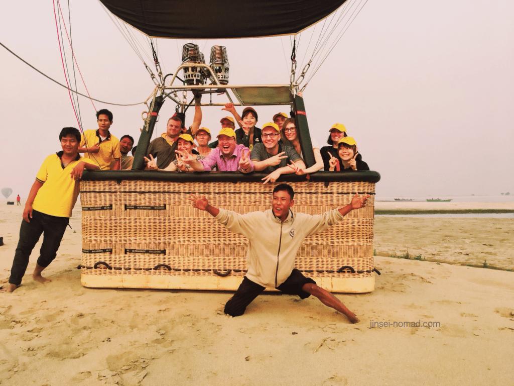 バガン 気球ツアー